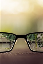 Preview iPhone wallpaper Glasses, clear vision