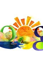 Google, colorido, pintura