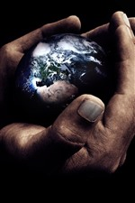 Preview iPhone wallpaper Hands, Earth, creative picture