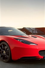 Preview iPhone wallpaper Lotus red supercar