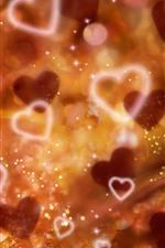 Aperçu iPhone fond d'écranCoeurs d'amour, éblouissement, brumeux, éclat
