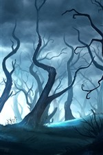 Preview iPhone wallpaper Magic forest, art picture