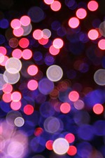Preview iPhone wallpaper Many light circles, pink style, night