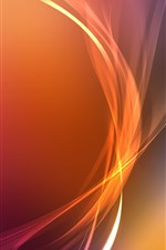 Preview iPhone wallpaper Orange curves, abstract