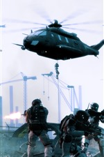 Preview iPhone wallpaper PC game, soldier, helicopters, war