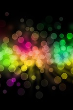 Preview iPhone wallpaper Rainbow color light circles, colorful, abstract