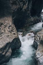 Vorschau des iPhone Hintergrundbilder Felsen, Bach, Wasser