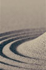 Vorschau des iPhone Hintergrundbilder Sand, Kreise