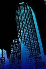 Preview iPhone wallpaper Skyscrapers, buildings, black background, creative design