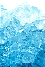 Preview iPhone wallpaper Some blue ice cubes