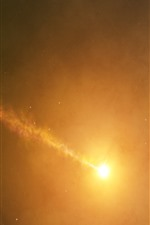 Sun, space, hazy, glare, infinite universe