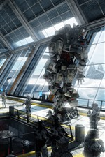 Preview iPhone wallpaper Titanfall, soldier and robots, PC game