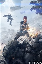 Preview iPhone wallpaper Titanfall, war, girl, robots