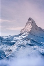 Preview iPhone wallpaper Alps, Switzerland, snow, peak
