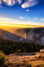 Preview iPhone wallpaper Australia, sunrise, sun rays, mountains, nature scenery