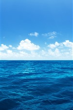 Preview iPhone wallpaper Beautiful blue sea, water, white clouds