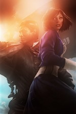 Preview iPhone wallpaper Bioshock Infinite, PC game, girl and man