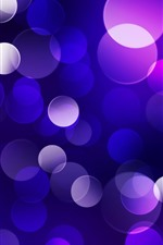 Preview iPhone wallpaper Blue and purple light circles, abstract