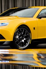 Preview iPhone wallpaper Chevrolet yellow supercar, bumblebee