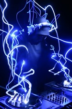 Preview iPhone wallpaper DJ, neon, creative picture