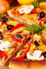iPhone壁紙のプレビュー おいしいピザ、ファーストフード