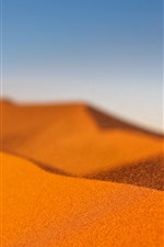 Preview iPhone wallpaper Desert, sand, wind