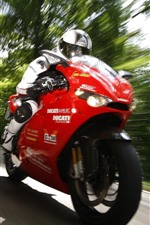 Preview iPhone wallpaper Ducati motorcycle, racing, speed, trees