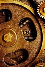 Preview iPhone wallpaper Gears, machine, oil