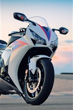 Preview iPhone wallpaper Honda motorcycle, front view, hazy