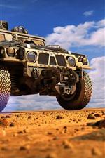 Vorschau des iPhone Hintergrundbilder Hummer Auto, Wüste