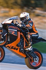 Preview iPhone wallpaper KTM motorcycles, race