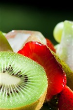 Preview iPhone wallpaper Kiwi, strawberries, apple, grapes, fruit