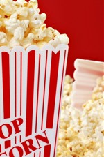 Preview iPhone wallpaper Many popcorn, snacks