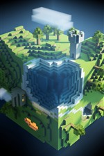 Preview iPhone wallpaper Minecraft, plants, game