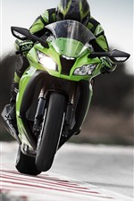 Preview iPhone wallpaper Motorcycle racing, front view