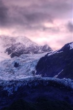Preview iPhone wallpaper Mountains, ice, glaciers, clouds