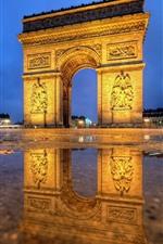 Preview iPhone wallpaper Paris, Arc de Triomphe, night, lights