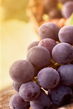 Preview iPhone wallpaper Purple grapes, hazy