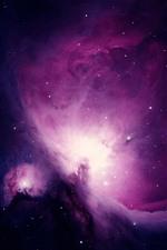Preview iPhone wallpaper Purple nebula, stars, beautiful universe