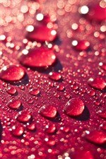 Preview iPhone wallpaper Red background, water droplet
