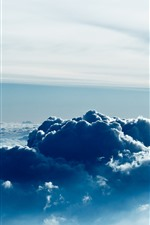 Preview iPhone wallpaper Sky, top view, thick clouds