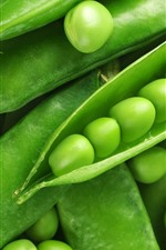 Preview iPhone wallpaper Some green peas, vegetable