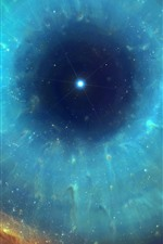 Preview iPhone wallpaper Space, eye, nebula, stars