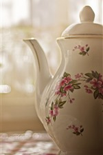 Preview iPhone wallpaper Teapot, sunlight, hazy, still life
