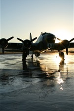 Preview iPhone wallpaper Aircraft, airport, wet ground