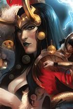 Art picture, Thor, lightning