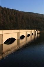 Vorschau des iPhone Hintergrundbilder Brücke, Fluss, Hügel