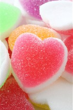 Preview iPhone wallpaper Colorful love hearts soft candy