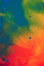 Preview iPhone wallpaper Colorful paint, red, green, blue, abstract