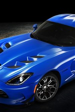 Preview iPhone wallpaper Dodge blue supercar, shadow